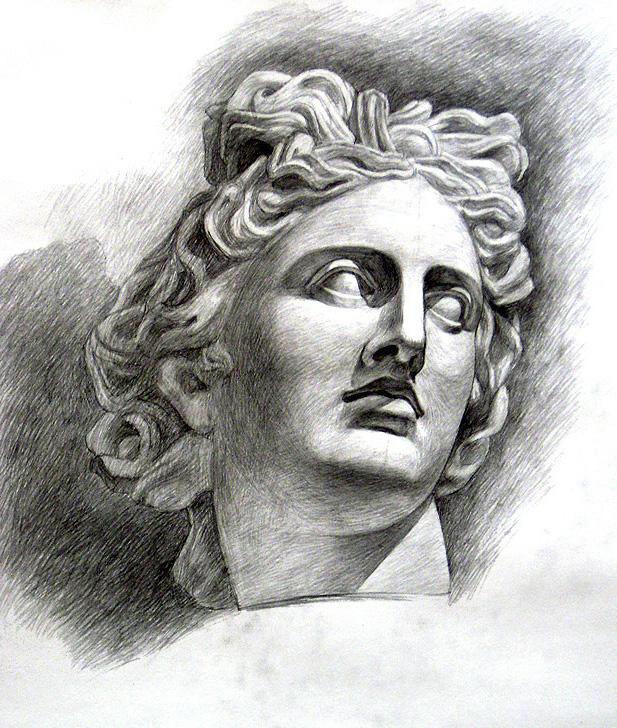 Голова человека основа учебного академического рисунка николай ли